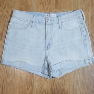 Hollister high rise rolled cuff jean shorts